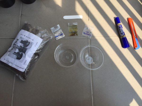 Peyote germination kit ingredients